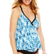 Christina® Tie-Dye Halterkini Swim Top - Maternity