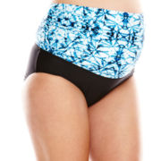 Christina® Tie-Dye 3-Way Swim Bottoms - Maternity