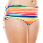 Breaking Waves Mexican Blanket Side-Tie Swim Bottoms - Plus
