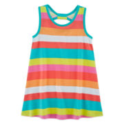 Okie Dokie® Sleeveless Back-Bow Dress - Toddler Girls 2t-5t