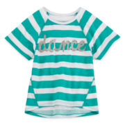 Okie Dokie® Striped Dolman Tee - Preschool Girls 4-6x