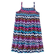 Okie Dokie® Sleeveless Smocked Dress - Preschool Girls 4-6x