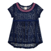 Arizona Lace Top With Embroidery - Girls 7-16 and Plus