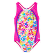 Speedo® Tie-Dye Print 1-pc. Swimsuit - Girls 7-16