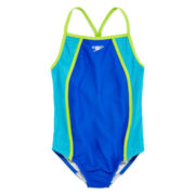 Speedo® Mesh Thin-Strap 1-pc. Swimsuit - Girls 7-16