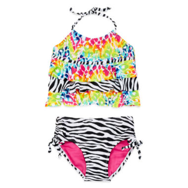 jcpenney.com | Big Chill Triple Tier 2-pc.Tankini Swimsuit - Girls 7-16