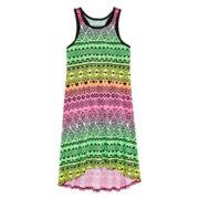 Total Girl® Sleeveless High-Low Rackerback Dress - Girls 7-16