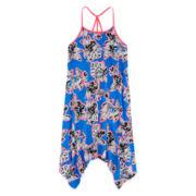Total Girl® Sleeveless Tropical Sharkbite Dress - Girls 7-16