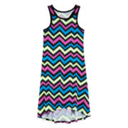 Total Girl® Chevron-Print Racerback Dress - Girls 7-16