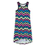 Total Girl® Chevron-Print Racerback Dress - Girls 7-16