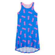 Total Girl® Pineapple-Print Rackerback Dress - Girls 7-16