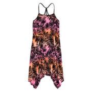 Total Girl® Tropical Print Sharkbite Dress - Girls 7-16