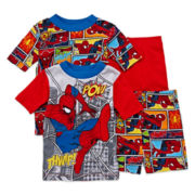 Spiderman 4-pc. Pajama Set - Boys 4-10