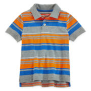 Arizona Short Sleeve Striped Polo Shirt - Preschool Boys 4-7