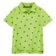 Arizona Short-Sleeve Lime Polo Shirt - Preschool Boys 4-7
