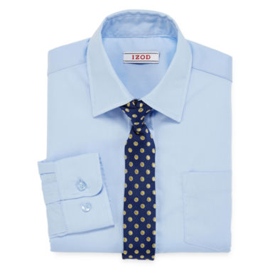 jcpenney.com | IZOD® Dress Shirt and Clip-On Tie Set - Boys 8-20
