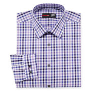 JF J. Ferrar® Easy-Care Cotton Stretch Dress Shirt - Slim Fit