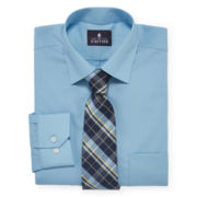 Stafford® Travel Easy-Care Dress Shirt and Tie Set - Regular Fit