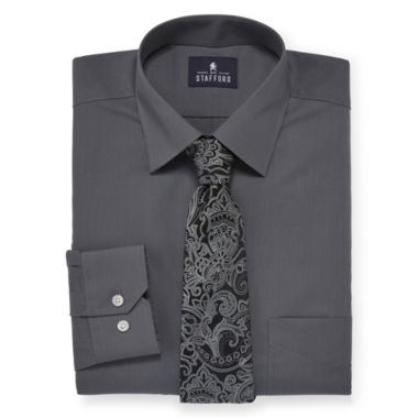 jcpenney.com | Stafford® Travel Easy-Care Dress Shirt and Tie Set