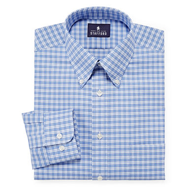 Stafford travel long sleeve wrinkle free oxford dress Best wrinkle free dress shirts