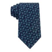 Stafford® Creekside Floral Vine Silk Tie - Extra Long