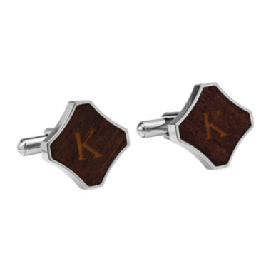 jcpenney.com | Personalized Redwood Stainless Steel Cufflinks