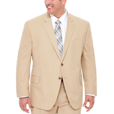 jcpenney.com | Stafford® Khaki Cotton Suit Jacket - Big & Tall