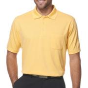 PGA Tour® Mens Mini-Grid Polo Shirt with Pocket