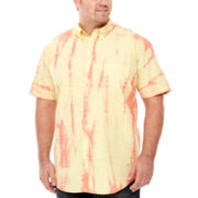 The Foundry Supply Co.™ Short-Sleeve Tie-Dye Woven Shirt - Big & Tall
