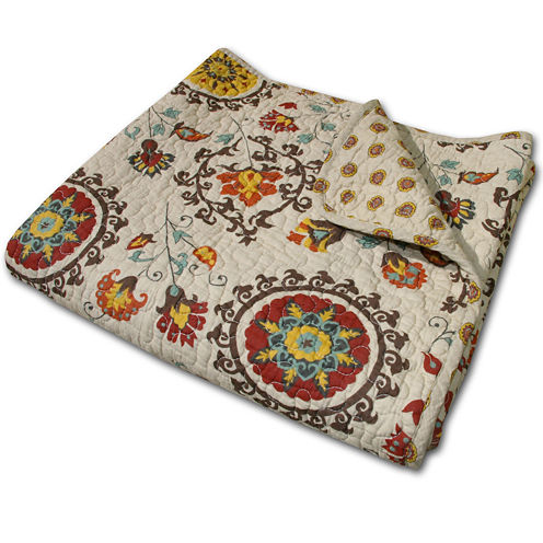 Greenland Home Fashions Andorra Quilted Cotton Throw