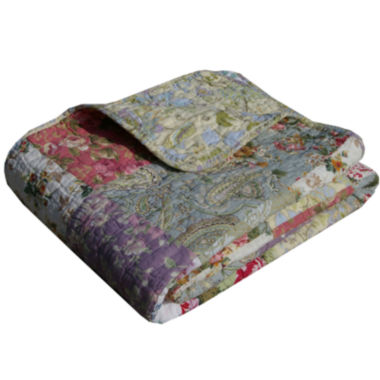 jcpenney.com | Greenland Home Fashions Blooming Prairie Quilted Cotton Throw