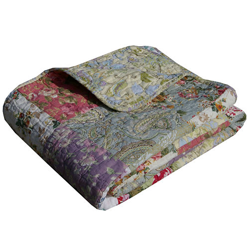 Greenland Home Fashions Blooming Prairie Quilted Cotton Throw