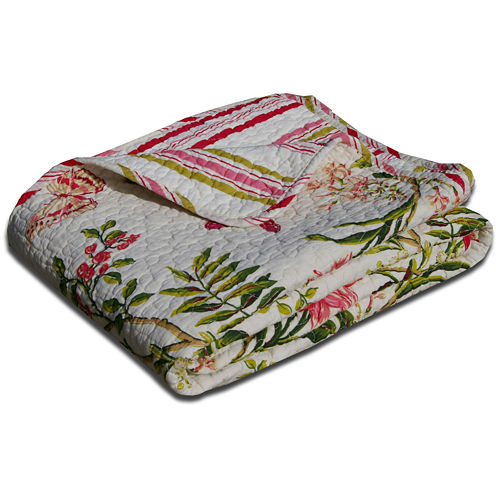 Greenland Home Fashions Butterflies Quilted Cotton Throw