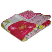 Love Letters Quilted Cotton Throw
