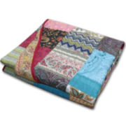 New Bohemian Quilted Cotton Throw