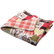 Rustic Lodge Quilted Cotton Throw