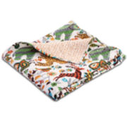 Safari Park Quilted Cotton Throw