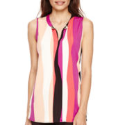 Worthington® Sleeveless Metal-Trim Tunic Top - Petite