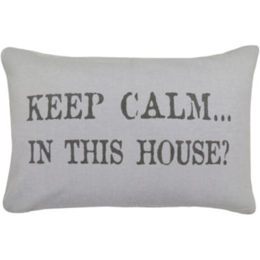 jcpenney.com | Park B. Smith® Keep Calm in This House Decorative Pillow