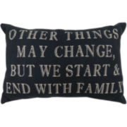Park B. Smith® Start and End with Family Decorative Pillow