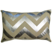 Park B. Smith® Chevron Foil-Printed Decorative Pillow