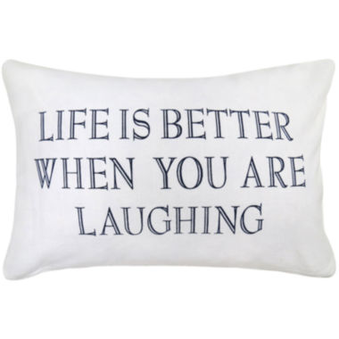 jcpenney.com | Park B. Smith® Life Is Better When You Are Laughing Feather Decorative Pillow