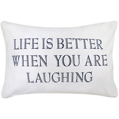 Park B. Smith® Life Is Better When You Are Laughing Feather Decorative Pillow