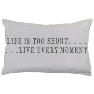 jcpenney.com | Park B. Smith® Life Is Too Short Feather Decorative Pillow