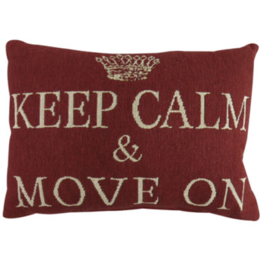 jcpenney.com | Park B. Smith® Keep Calm Move On Tapestry Decorative Pillow