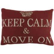 Park B. Smith® Keep Calm Move On Tapestry Decorative Pillow