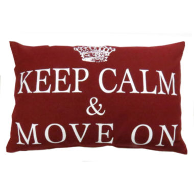 jcpenney.com | Park B. Smith® Keep Calm Move On Feather Decorative Pillow
