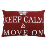 Park B. Smith® Keep Calm Move On Feather Decorative Pillow