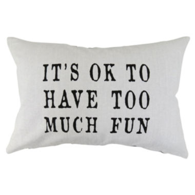 jcpenney.com | Park B. Smith® Its Ok To Have Too Much Fun Feather Decorative Pillow