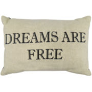 Park B. Smith® Dreams Are Free Tapestry Decorative Pillow